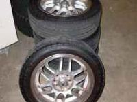 """I have 4 tires and rims for sale. The rims are 15"""", but"""