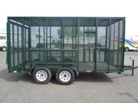 "Custom 77"" x 14' Enclosed Landscape Trailer 7,000lb"