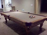 "Custom pool table measuring 50"" X 98"" (that's the"