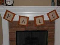 "I make custom banners. I have several of the ""Fall"""