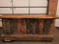Beautiful brand new handmade custom made bar with