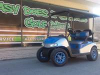 2012 EZGO RXV with Good Batteries. Custom 2-Tone, Blue