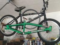 Here I have a BMX bike I custom built. Easily have 1000