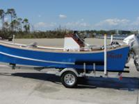 20 ft custom developed dory skiff. Fiber glassed inside