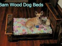 We build these styles of beds for dogs and all types