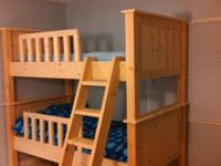 These customized constructed bunk beds are made from