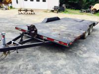 Custom build car trailer. Heavy duty, had electic