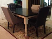 "Dining Tables measure aprox 42""w 72""l 30""h. Solid 11/2"""
