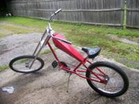 Completely ride-able custom built homemade chopper made