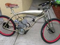 CUSTOM BUILT MOTO BICYCLE. I HAND BUILT THIS BIKE PIECE