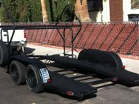 Custom built race vehicle provider trailer tire racks