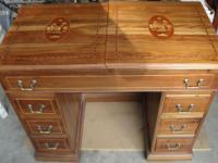 Beautiful solid walnut sewing cabinet custom build in