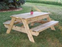 I build these myself. It is a kids picnic table with a