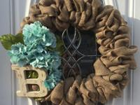 Custom burlap wreaths for sale! The perfect addition to