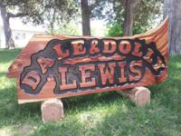 We make custom carved logs in a number of different