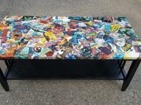 Furniture makeover - the comic book themed coffee