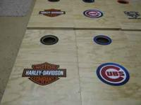 Custom cornhole boards. Finished with bags $125.00