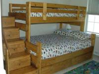 Rainbow Twin Full Bunk Beds Complete With Mattresses For
