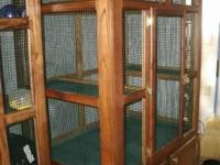 customized critter cage. custom made from Oak and