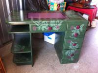 Lovely custom-made made and hand-painted desk for sale.