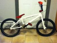 "For sale is a custom 20"" DK bmx with white powder"