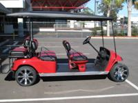 CUSTOM EZGO 6 PASSENGER GOLF CART FRESH OFF OUR