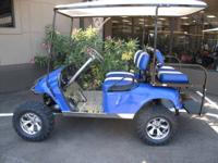 THIS SUPER CUSTOMIZED EZGO IS NAMED DEEP BLUE SEA AND