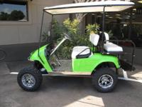 THIS SUPER SWEET CUSTOM EZGO IS LOADED UP FROM A TO Z