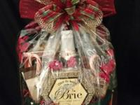 Custom gift baskets, ready for local delivery within