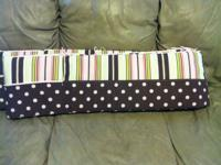 Custom made crib bumper, crib skirt, decorative