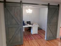 Custom, interior sliding barn doors - many designs and