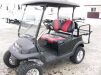 2006 Club Car Precedent, Lifted Golf Cart, With Striped