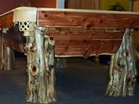 Brand New - Made to Order Custom Log Pool Tables