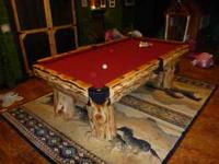 Nice Solid Wood Poker Table Custom Built For Sale In