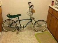 i have a green lowrider bike that i would like to sell.