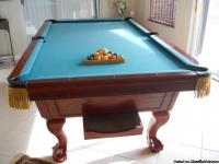 CUSTOM MADE, CHERRY WOOD, CLAW FOOT, 8 FOOT POOL