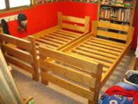 Solid wood bunk beds made locally one bed at a time.