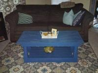Custom, handmade coffee tables. The color pictured is a