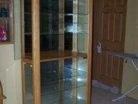This is a customizeded Curio Cabinet approx. over all
