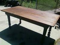 I have a custom-made made walnut table with 4 matching