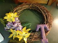Customized hand-crafted front door wreaths readily