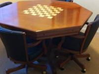 American Made game table. It has a dining top with