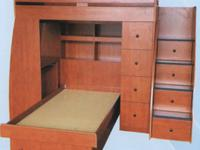Jr. Loft Bunk Bed. Price includes the Bed as shown in