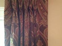 Beautiful custom made pinch pleat curtains  fully lined