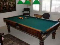 Pool Table is Custom made. Beautiful Pool Table , Great