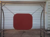 very large shooting gong 33.5 x 29 plate is 1/2 thick