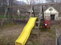 All-steel construction custom-made swing set. Frame -