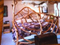 Custom hand made manzanita canopy bed***Paid over