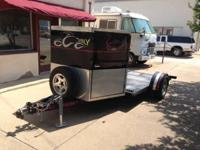 This is a custom made one of a KIND Motorcycle Trailer,