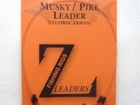 CUSTOM MUSKY LEADERS -- FLUOROCARBON -- WIRE -- MUSKIE
